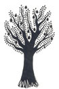 Pen and Ink Drawing of Stylised Fruit Tree