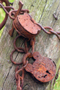 Photograph of Rusted Padlocks on farm gate